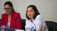 La directora general de Desarrollo Pesquero de la Consellería del Mar, Susana Rodríguez, en la Comisión 8ª