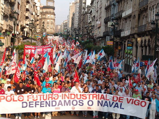 Naval manifestación
