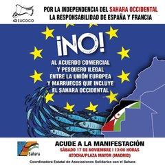 Manifestación contra acuerdo pesca Marruecos