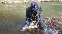 Pesca fluvial. Foto: Gob. Cantabria