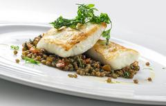 Plato pescado restaurante