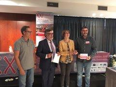 Entrega del Premio al Mejor Panel XXI ForoAcui. Segundo premio. Foto: IPac. Acuicultura