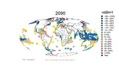 La producción acuícola en áreas costeras descenderá si no se toman medidas de adaptación al cambio climático. H.E. Froehlich