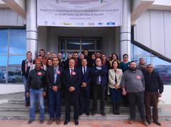 Participantes del taller final sobre aceptabilidad social y gobernanza de la acuicultura en la  Bahía de Monastir organizado por MedAID