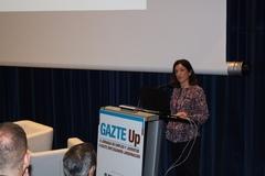 Beatriz Artolazabal en  la jornada Gazte Up. Foto: Gobierno Vasco acuicultura formación empleo