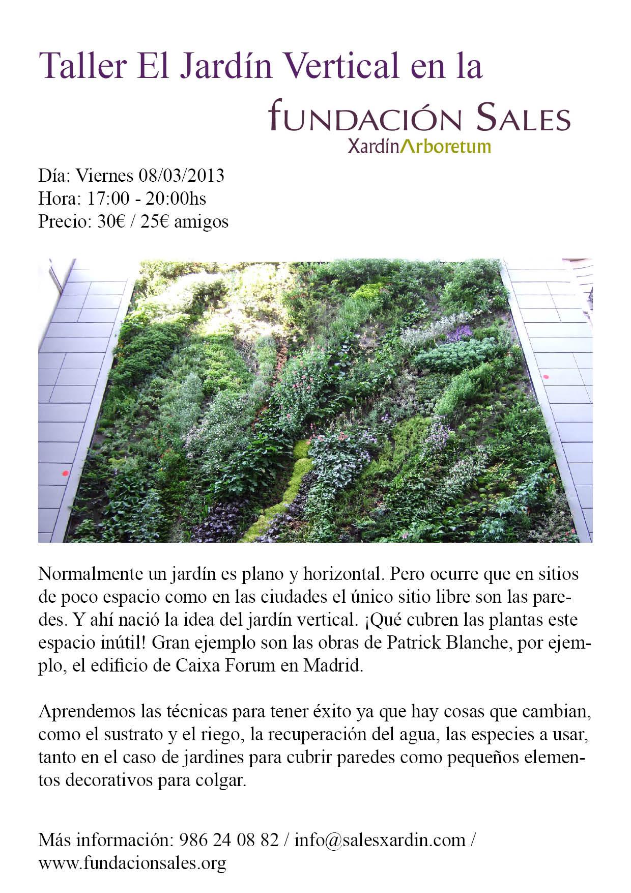 Taller el jard n vertical ginkgo news fundaci n sales - El jardin vertical ...