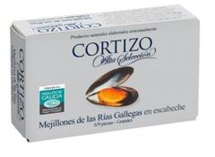 Conservas mejillón DOP Mexillón/ Mejillón de Galicia acuicultura