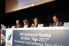 Rosa Quintana en la clausura de la VIII Conferencia Mundial del Atún
