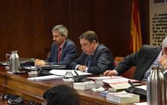 El ministro Luis Planas en su comparecencia en la Comisión de Agricultura, Pesca y Alimentación del Senado. Foto: MAPA