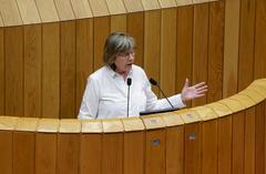 La conselleira del Mar de la Xunta de Galicia en el Parlamento gallego