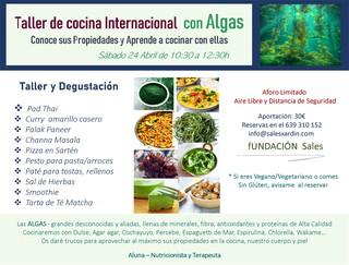 Taller de cocina internacional con Algas