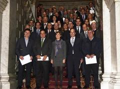 La MInistra con las empresas adheridas al Código de Buenas Prácticas Mercantiles