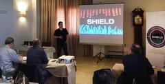 Momento del encuentro organizado por Skretting España para presentar las novedades sobre la dieta Shield y los nuevos servicios técnicos AquaSim acuicultura