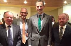 Representates de APROMAR, ARVI y FNC con el Rey de España