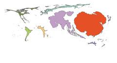 Producción mundial por continente 2008