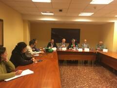 Representantes de AGADE, Anfaco-Cecopesca, APROMAR y sector productor mejillonero en el CEP en Vigo. Foto: IPac. Acuicultura