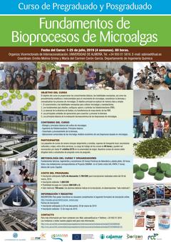 """Curso de pregraduado y postgraduado """"Fundamentos de Bioprocesos de Microalgas"""""""