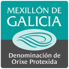Logo Mexillón de Galicia Denominación de Orixe Protexida acuicultura