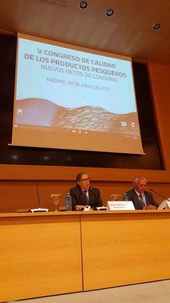 Albberto López-Asenjo en V Congreso de Calidad de los productos Pesqueros