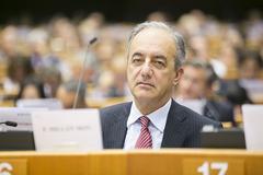 El eurodiputado gallego de Grupo Popular Europeo Millán Mon -debate sobre informe acuicultura