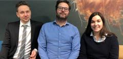 Sverre Bang Småge , Øyvind Brevik y Kathleen Frisch acuicultura