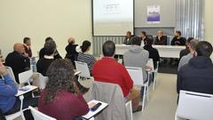 Momento de la presentación del proyecto SeaFeed. Foto: Univ. Vigo