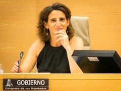 Teresa Ribera en la Comisión para la Transición Ecológica del Congreso