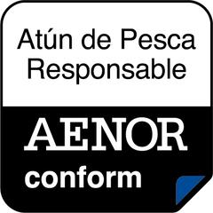 Logo Aenor Atún de Pesca Responsable