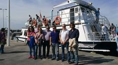 Visita de la directora general y técnicos a  la Estación de Acuicultura Marina del IMIDA