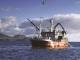 Buque de pesca en faena en Irlanda