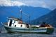 Barco navegando. Chile